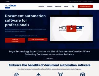 hotdocs.com screenshot