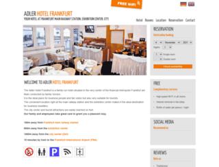 hotel-adler-frankfurt.com screenshot