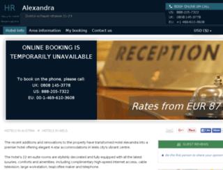 hotel-alexandra-wels.h-rez.com screenshot