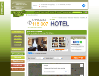 hotel-ares-eiffel-paris.federal-hotel.com screenshot