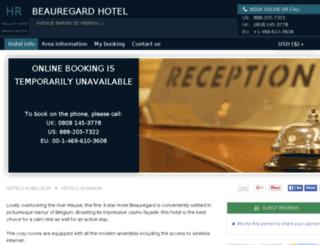 hotel-beauregard-namur.h-rez.com screenshot