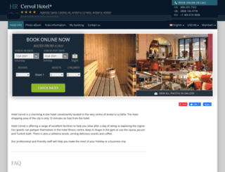 hotel-cervol-andorra.h-rez.com screenshot