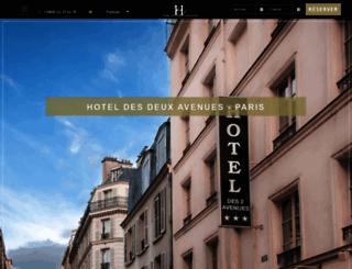 hotel-des-deux-avenues.com screenshot