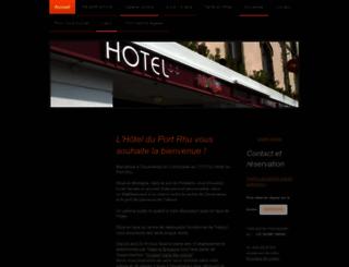 hotel-du-port-rhu.fr screenshot