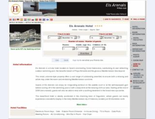 hotel-els-arenals-almarda.h-rez.com screenshot
