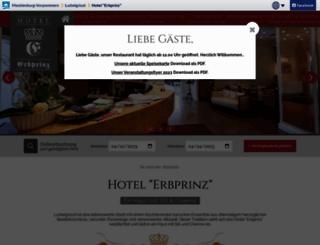 hotel-erbprinz.m-vp.de screenshot