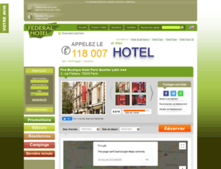 hotel-five-paris.federal-hotel.com screenshot
