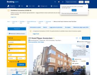 hotel-flipper-amsterdam.com screenshot