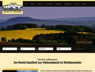 hotel-gasthofzurheinzebank.de screenshot