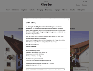 hotel-gerbe.de screenshot
