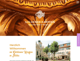 hotel-goldener-karpfen.de screenshot