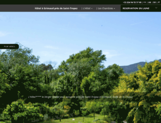 hotel-grimaud.com screenshot