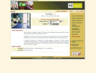 hotel-hi-matic-paris.com screenshot