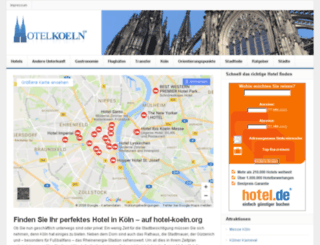 hotel-koeln.org screenshot