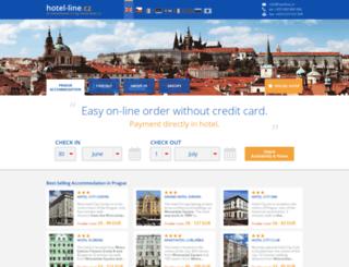 hotel-line.cz screenshot