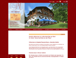 hotel-mairambach-brixen.it screenshot