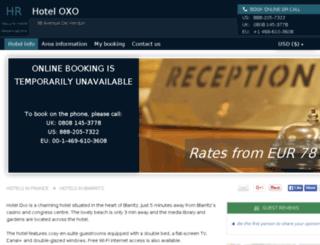 hotel-oxo-biarritz.h-rez.com screenshot