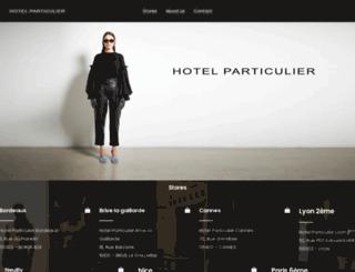 hotel-particulier.eu screenshot
