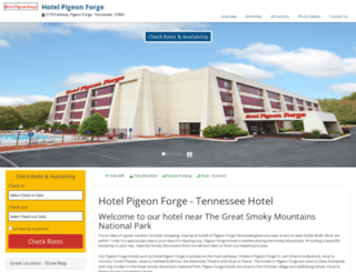 hotel-pigeonforge.com screenshot