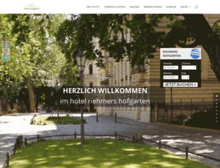 hotel-riehmers-hofgarten.de screenshot