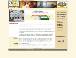 hotel-soleil-et-jardin-solaize.com screenshot