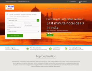 hotel.co.in screenshot