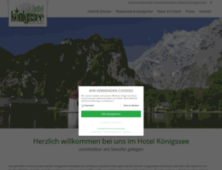 hotel.koenigssee.com screenshot