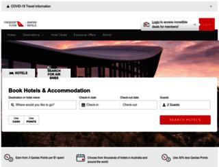 hotel.qantas.com.au screenshot