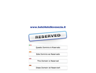 hotel4stellevenezia.it screenshot