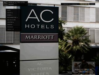 hotelacvictoriasuites.es screenshot