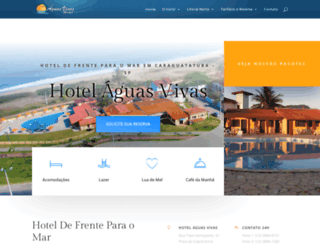 hotelaguasvivas.com.br screenshot
