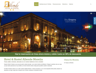 hotelallendemorelia.com screenshot