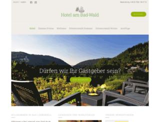 hotelambadwald.de screenshot