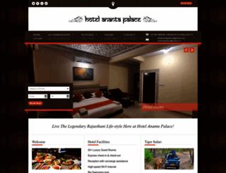 hotelanantapalace.com screenshot