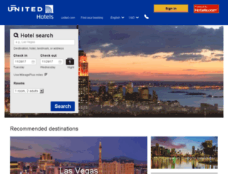 hotelandcarawards.mileageplus.com screenshot