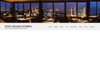 hotelarcadiaistanbul.com screenshot