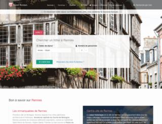 hotelarennes.com screenshot