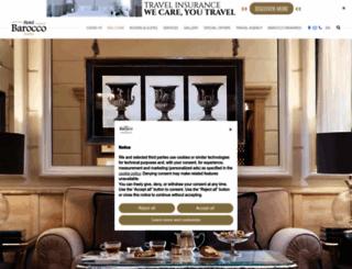 hotelbarocco.com screenshot