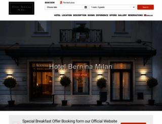 hotelbernina.com screenshot