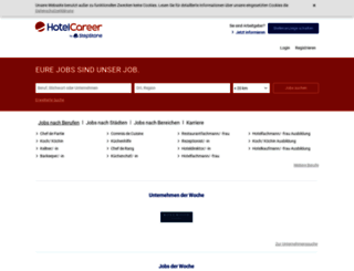 hotelcareer.at screenshot