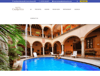 hotelcasantica.com.mx screenshot