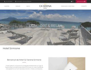 hotelcaserena.it screenshot