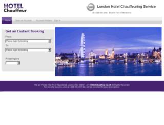 hotelchauffeur.co.uk screenshot