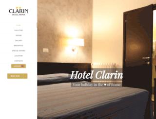 hotelclarin.it screenshot