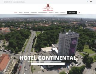 hotelcontinental.ro screenshot