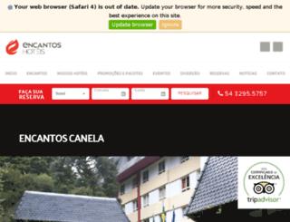 hotelcontinentalcanela.com.br screenshot