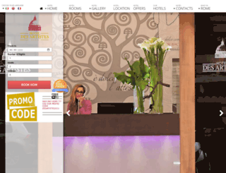 hoteldesartistes.com screenshot