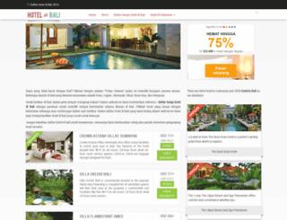 hoteldibali.info screenshot
