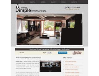 hoteldimpleinternational.com screenshot
