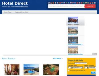 hoteldirect.it screenshot